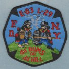 Bronx New York Engine 83 Ladder 29 Fire Company Patch