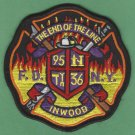 Bronx New York Engine 95 Ladder 36 Company Fire Patch