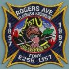 Brooklyn New York Engine 255 Ladder 157 Fire Company Patch