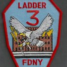 Manhattan New York Ladder Company 3 Fire Patch