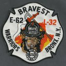 Bronx New York Engine 62 Ladder 32 Fire Company Patch