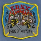 Manhattan New York Engine 54 Ladder 4 Company Fire Patch