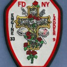 Manhattan New York Engine 33 Ladder 9 Company Fire Patch
