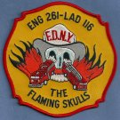 Queens New York Engine 261 Ladder 116 Company Fire Patch