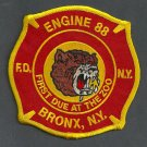Bronx New York Engine Company 88 Fire Patch