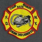 Brooklyn New York Engine 249 Ladder 113 Fire Company Patch