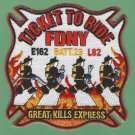 Staten Island New York Engine 162 Ladder 82 Company Fire Patch
