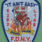 Brooklyn New York Engine 282 Ladder 148 Fire Company Patch