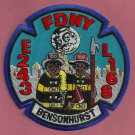 Brooklyn New York Engine 243 Ladder 168 Company Fire Patch