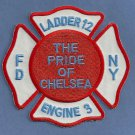 Manhattan New York Engine 3 Ladder 12 Fire Company Patch