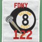 Brooklyn New York Ladder Company 122 Fire Patch