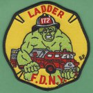 Brooklyn New York Ladder Company 172 Fire Patch