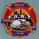 Queens New York Engine 295 Ladder 144 Company Fire Patch