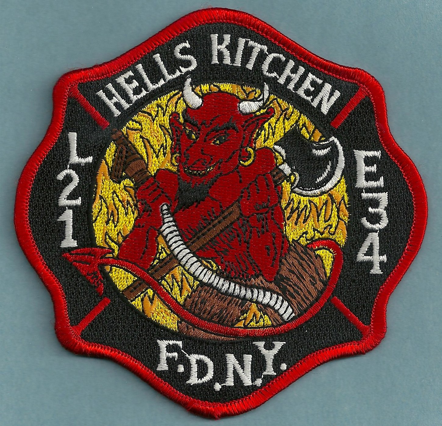 Harlem New York Engine 34 Ladder 21 Company Fire Patch