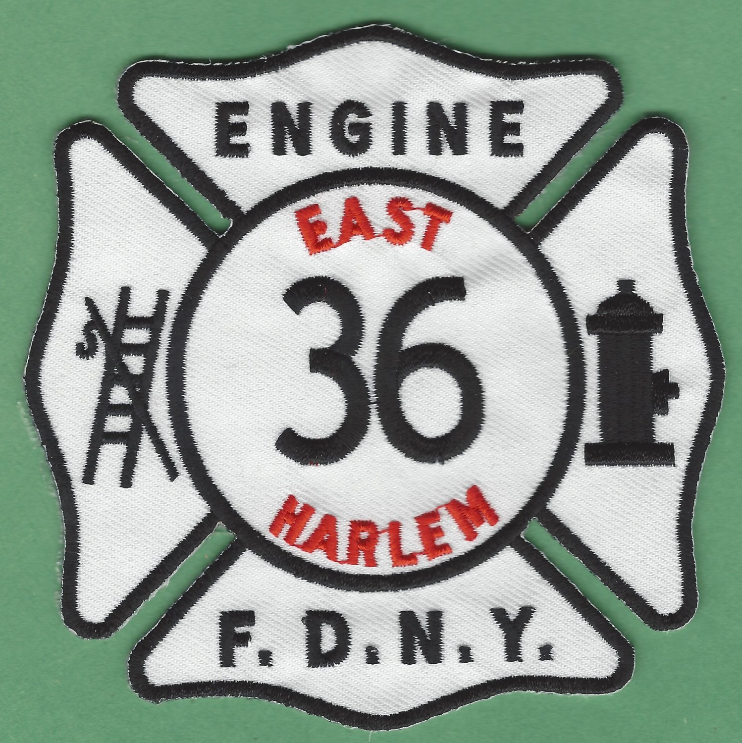 Harlem New York Engine Company 36 Fire Patch