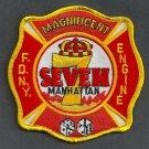 Manhattan New York Engine Company 7 Fire Patch