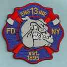 Manhattan New York Engine Company 13 Fire Patch
