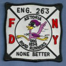 Queens New York Engine Company 263 Fire Patch