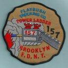 Brooklyn New York Ladder Company 157 Fire Patch