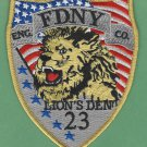 Manhattan New York Engine Company 23 Fire Patch