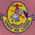 Brooklyn New York Ladder Company 105 Fire Patch