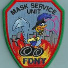 New York Fire Department Mask Service Unit Patch