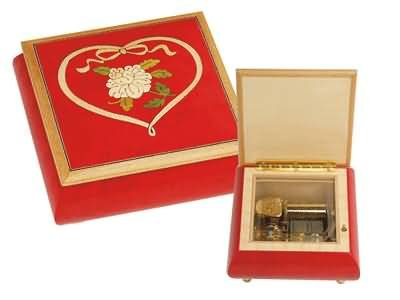Wooden music jewellery box