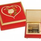 Wooden music jewellery box