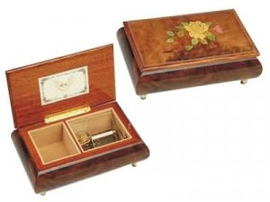 wooden music jewllery box