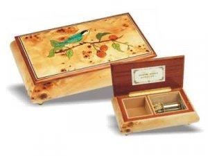 Wooden music jewelery box