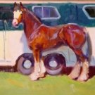 "Expectant Gaze"" Equine Art Original Oil Painting Horse California Listed Artist"
