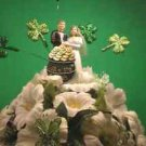 Wedding Cake Topper Irish Wedding Green & White