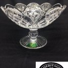 Irish Crystal - Heritage Irish Crystal Cathedral Compote Scalloped Bowl 8""