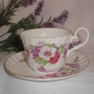 Allyn Nelson Tea Cup and Saucer Set Bone China - Made in Stafford England