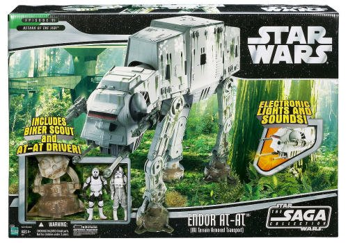 Star Wars Saga Deluxe Vehicle Endor AT-AT Walker w/ Biker Scout and AT-AT Pilot