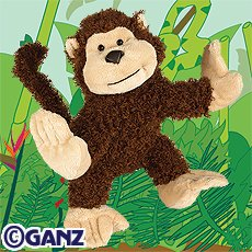 Webkinz Brown Cheeky Monkey New with Sealed Tag