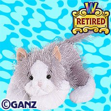Webkinz RETIRED Gray and White Cat New with Sealed Tag