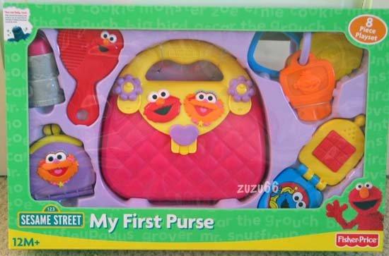 Fisher Price Sesame Street My First Baby Purse Playset w/Elmo & Zoe