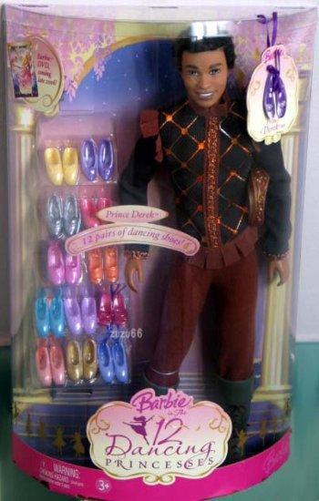 Barbie in the 12 Dancing Princesses Prince Derek Ken Doll African American/Ethnic