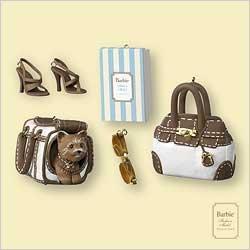 Hallmark Barbie Fashion Pup Dog Miniature Ornament Set