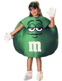 M&M's Green Peanut 3 Pc. Child Halloween Costume M 8-10