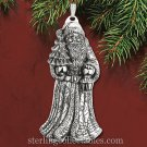 Reed & Barton 2015 Annual Santa Sterling Ornament NIB