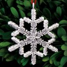 2014 Sterling Collectables Snowflake 2nd Edition Sterling Ornament NIB