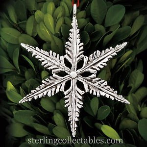 2015 Sterling Collectables Snowflake 3rd Edition Sterling Ornament NIB