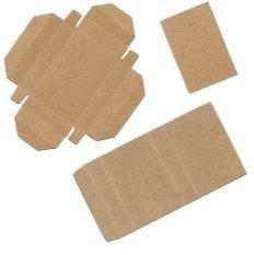"50 Small Kraft 2"" X 1 3/8"" X 3/8"" Matchboxes - MBX #1 NON-ASSEMBLED DIY"