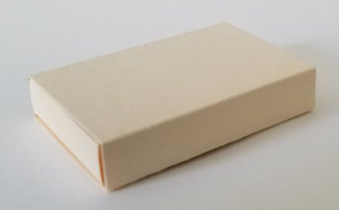 10 Small Blank Empty Matchboxes - DARK IVORY
