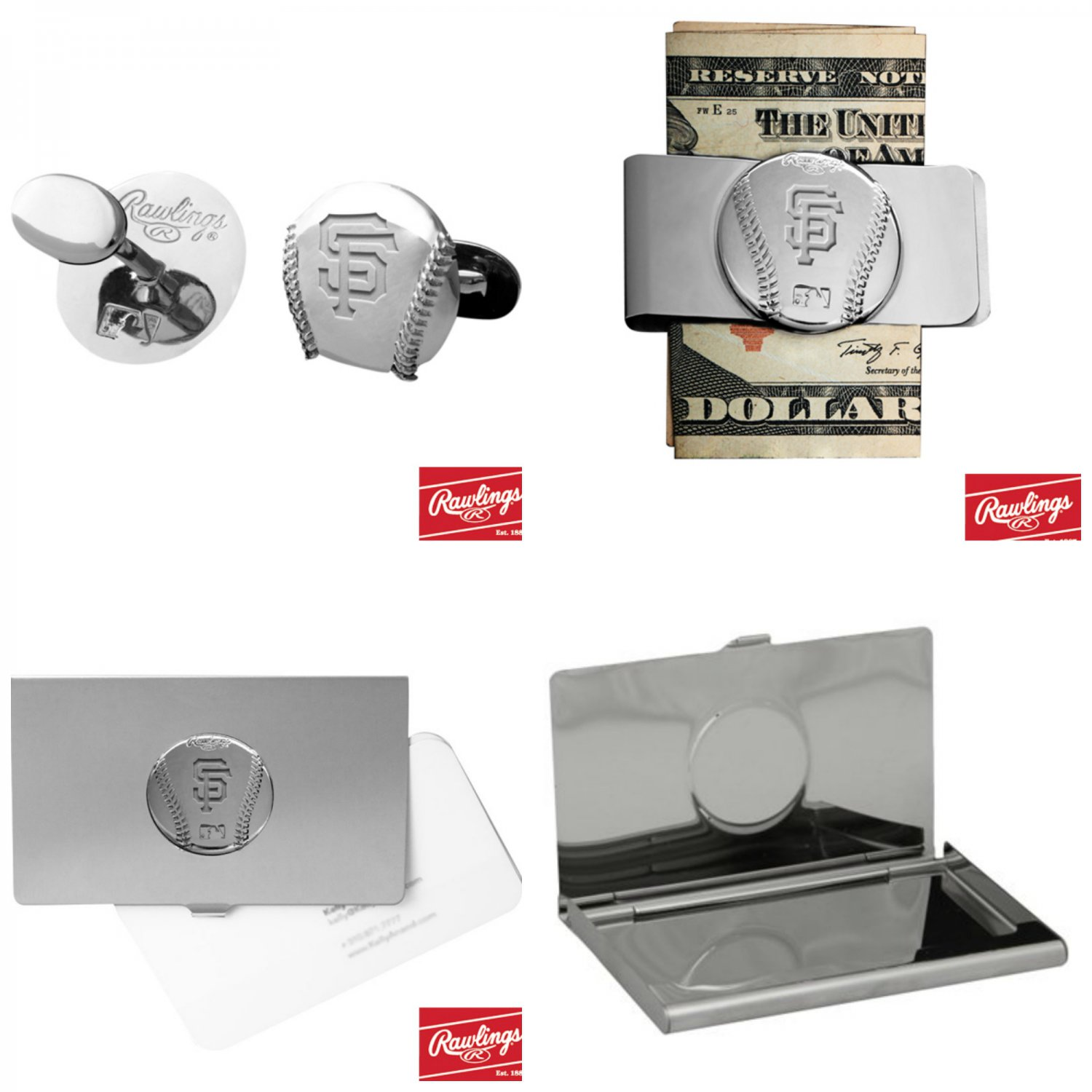 THE Perfect Gift ! San Francisco Giants� Cuff Links � Money Clip � Business Card Holder