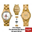 Boston Red Sox, MLB Officially Licensed, Maple Wood Watch