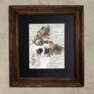 Dictionary Print: Courteous Chihuahua, Steampunk Dog, Dog Art Print
