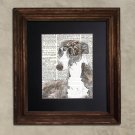 Dictionary Print: Triumphant Whippet, Steampunk Dog Art Print